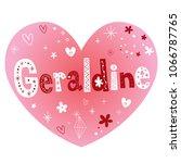 geraldine   feminine given name ... | Shutterstock .eps vector #1066787765
