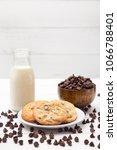 chocolate chip cookies   Shutterstock . vector #1066788401