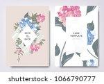 botanical wedding invitation... | Shutterstock .eps vector #1066790777