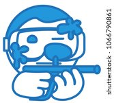 emoji of paintball game player... | Shutterstock .eps vector #1066790861