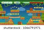 a jungle jumping game template... | Shutterstock .eps vector #1066791971