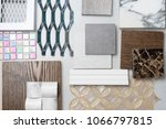 samples of material  wood   on... | Shutterstock . vector #1066797815