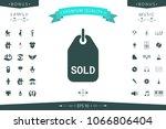 sold tag symbol | Shutterstock .eps vector #1066806404