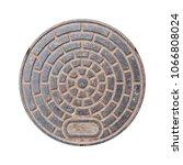 Rusty Manhole Cap  Grunge...