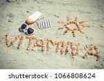 medical pills  inscription... | Shutterstock . vector #1066808624