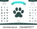 paw icon symbol | Shutterstock .eps vector #1066809077