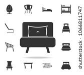 armchair icon. detailed set of... | Shutterstock .eps vector #1066811747