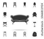 sofa icon. detailed set of... | Shutterstock .eps vector #1066811924