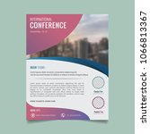 brochure template. flyer design.... | Shutterstock .eps vector #1066813367