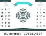 geometric arabic pattern. logo... | Shutterstock .eps vector #1066814837