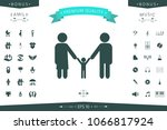 adults with a child   family... | Shutterstock .eps vector #1066817924