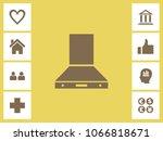 kitchen chimney icon with bonus ... | Shutterstock .eps vector #1066818671