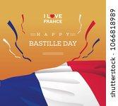 big flag france bastille day | Shutterstock .eps vector #1066818989