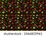 seamless sixties style mod pop... | Shutterstock . vector #1066825961