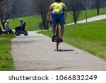 cyclist ride on holiday at... | Shutterstock . vector #1066832249