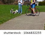 cyclist ride on holiday at... | Shutterstock . vector #1066832255
