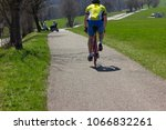 cyclist ride on holiday at... | Shutterstock . vector #1066832261