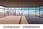 perspective view of empty wood... | Shutterstock . vector #1066836644