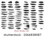 grungy brush strokes set | Shutterstock . vector #1066838087