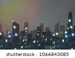 population grown and city... | Shutterstock . vector #1066843085