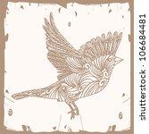 bird fly brown | Shutterstock .eps vector #106684481