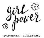 girl power black and white... | Shutterstock .eps vector #1066854257