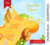fruit popsicle ads. popsicle... | Shutterstock .eps vector #1066855031