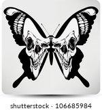 butterfly skull. vector...