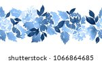 seamless watercolor floral... | Shutterstock . vector #1066864685