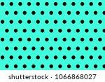 black and green small polka dot ... | Shutterstock . vector #1066868027