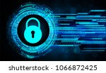 safety concept  closed padlock... | Shutterstock .eps vector #1066872425