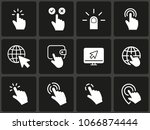 mouse click icon  vector hand ...   Shutterstock .eps vector #1066874444