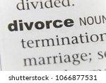 the word divorce close up | Shutterstock . vector #1066877531