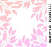 frame with a silhouette of pink ... | Shutterstock . vector #1066881524