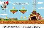 adventure mining game template...   Shutterstock .eps vector #1066881599