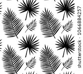 seamless pattern with palm... | Shutterstock .eps vector #1066884257