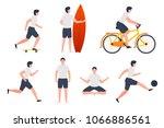 vector set of man in different... | Shutterstock .eps vector #1066886561