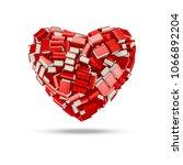 the bookish heart   3d... | Shutterstock . vector #1066892204