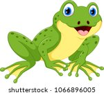 cute frog cartoon isolated on... | Shutterstock .eps vector #1066896005