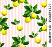 seamless citrus pattern with... | Shutterstock .eps vector #1066896824