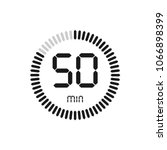 the 50 minutes  stopwatch... | Shutterstock .eps vector #1066898399
