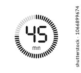 the 45 minutes  stopwatch... | Shutterstock .eps vector #1066899674