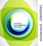 abstract blue techno swirl... | Shutterstock .eps vector #106690061