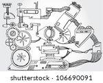 mechanism hand drawn | Shutterstock .eps vector #106690091