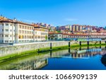 waterfront of the nervion river ... | Shutterstock . vector #1066909139