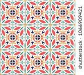 vector seamless pattern  based... | Shutterstock .eps vector #1066909421
