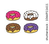 donut doodle icon | Shutterstock .eps vector #1066911611
