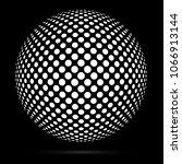 white 3d vector halftone sphere.... | Shutterstock .eps vector #1066913144