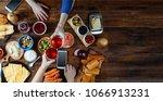 enjoying dinner with friends.... | Shutterstock . vector #1066913231