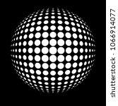 Black 3d Vector Halftone Spher...